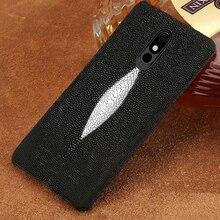 100% Genuine Stingray Leather Phone case For LG Stylo 5 Luxury Back Cover for LG Stylo 4 V40 V50 G7 G8 ThinQ G8s ThinQ G6 G5 Q6 luxurious litchi grain genuine leather flip cover phone skin case for lg q6 q7 q8 g8 thinq g8s thinq cell phone cover