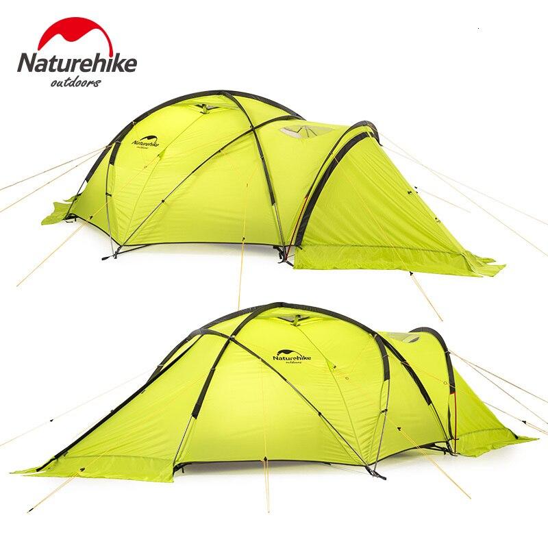 Naturehike 2019 70D Eis Zelt 2 Person Schnee Camping Zelt Anti-stress Verdickt Wind und Kälte Beständig Zelt Robuste schnelle-gebäude