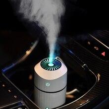 Umidificador para aromaterapia com lâmpada led, luz fria ajustável, brilho, modo umidificador para carro, casa, escritório