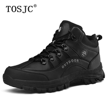 TOSJC Brand Mens Ankle Hiking Shoes Tough Mountain Climbing Autumn Man Work Safety Boots Outdoor Military Tactics