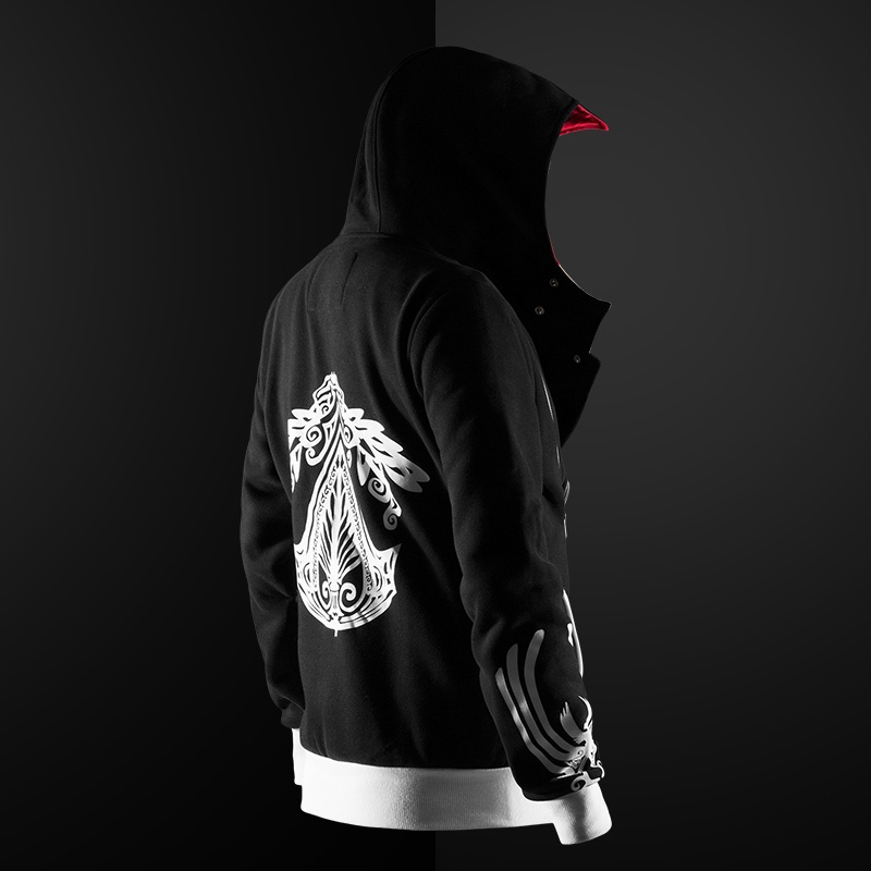 Zogaa novo 5 cores assassino hoodie unisex