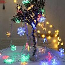 Christmas Lighting for Home Fairy Lights String Christmas Snowflake Holiday Garland LED 2022 New Years Xmas Navidad Natal 2021