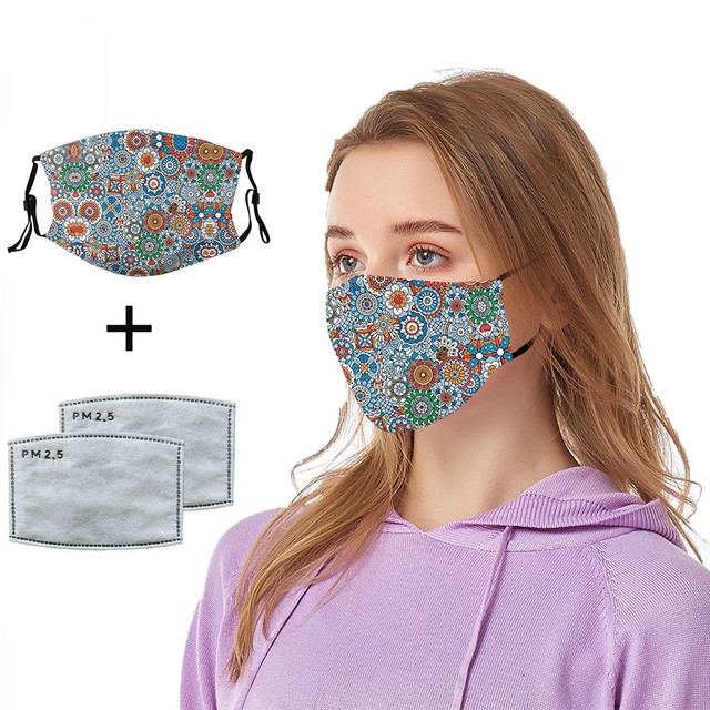 #H25 women Cotton PM 2.5 mouth Mask anti dust mask Activated carbon filter Windproof Mouth-muffle proof Face masks Care 1