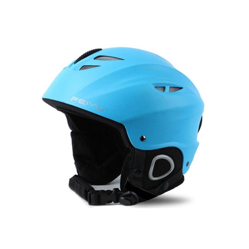 Casque de Ski ABS Shell + Eps couche intérieure froid chaud Anti-chute porter universel pour les femmes hommes casque de Ski professionnel casque de protection - 6