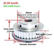 30Teeth XL Timing pulley Bore 6/6.35/8/10/12/12.7/14/15/16/17/20mm for width 10mm XL Synchronous Belt 30-XL BFGear 5.08mm Picth