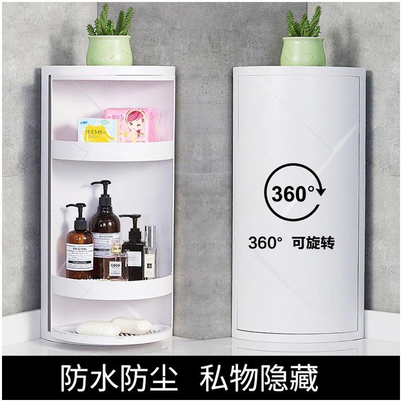 Санцин цветок большой размер Северный Европейский стиль сантехника шкафы для хранения 360 градусов вращающаяся полка для хранения