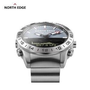 Image 3 - Oryginalny North Edge mężczyzna GAVIA 2 inteligentny zegarek zegarki biznesowe luksusowy pełny stalowy wysokościomierz kompas nurkowanie sport wodoodporny zegarek