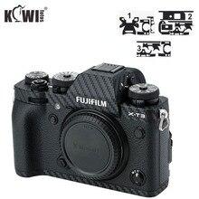 Киви Анти-Царапины Камера тела крышка пленка из углеродного волокна для ЖК-дисплея с подсветкой Fujifilm X-T3 XT3 3M Стикеры анти-скольжение держатель с креплением для кожи и lcd-экрана