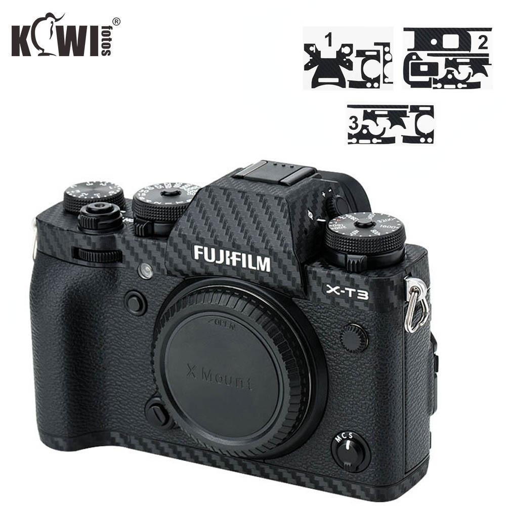 Kiwi Anti-Scratch Camera Body Cover Carbon Fiber Film For Fujifilm X-T3 XT3 3M Sticker Anti-Slide Grip Holder Skin Guard Shield