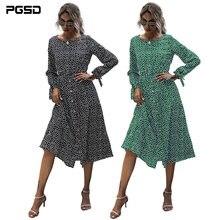 Pgsd осеннее женское платье 2020 сексуальное с О образным вырезом