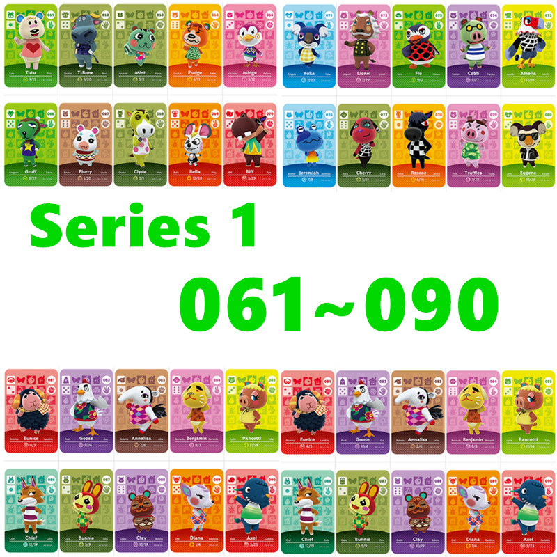 Animal Crossing Card Nfc Amiibo Card Work For NS Games Series 1 For Nintend Switch And Switch Lite (061 To 090)