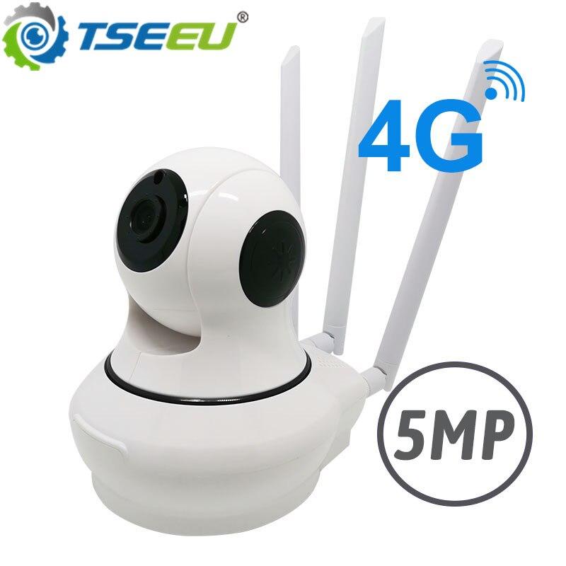 5MP 1080P 4G 3G carte sim intérieure panoramique inclinaison robert ip caméra téléphone mobile vue 128G carte SD