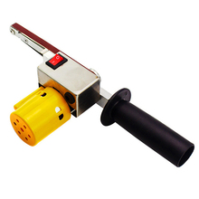 Handheld Electric Belt Sander Mini Sanding Machine Angle Grinder with for Polishing Micro