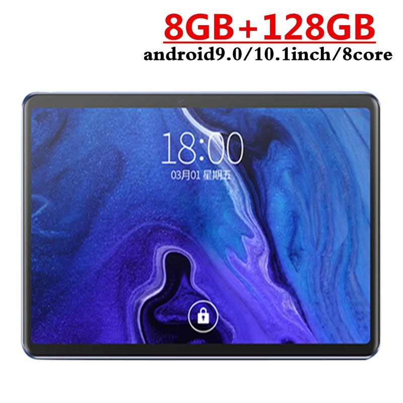 Планшет Google Play, Android 2021, 9,0 дюйма, Восьмиядерный, 8 ГБ ОЗУ 10,1 Гб ПЗУ, 2.5D стекло, Wi-Fi, планшеты с двумя SIM-картами, 3G, 4G, GLTE, GPS, 128