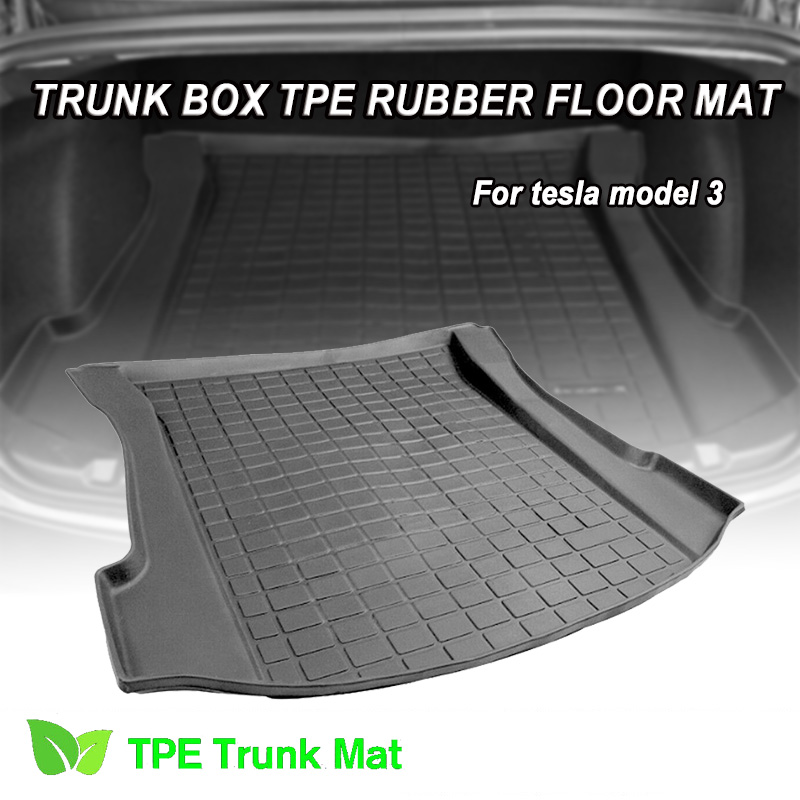 Floor-Carpet Trunk-Cover Cargo-Liner Tesla Model-3 Anti-Dust Waterproof Mud Rear Non-Slip title=