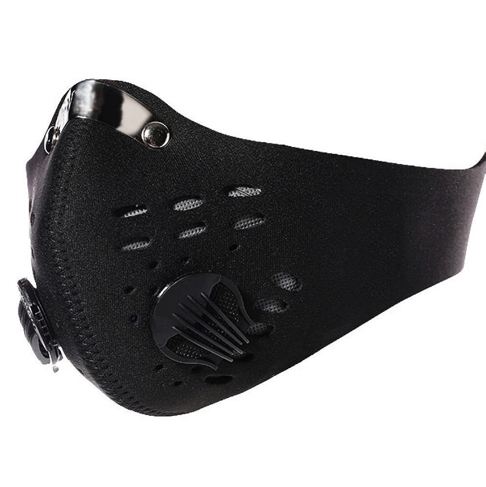 Neoprene Anti Dust Motorcycle Bicycle Cycling Ski Half Face Mask Filter One Size Black