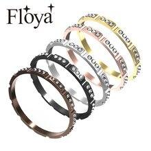 Anéis femininos de zircão, anéis cheios de zircônia para mulheres, acessórios de base de aço inoxidável de alumínio, preto, intercâmbável