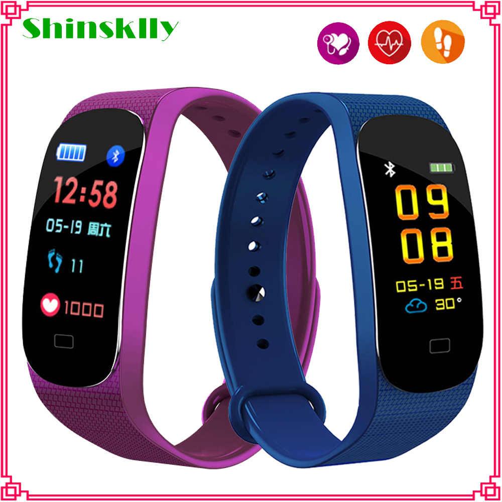 M5 Smart band Fitness Tracker Horloge Fitness armband Hartslagmeter Bloeddruk Smartband Gezondheid Polsband PK mi band 4 3
