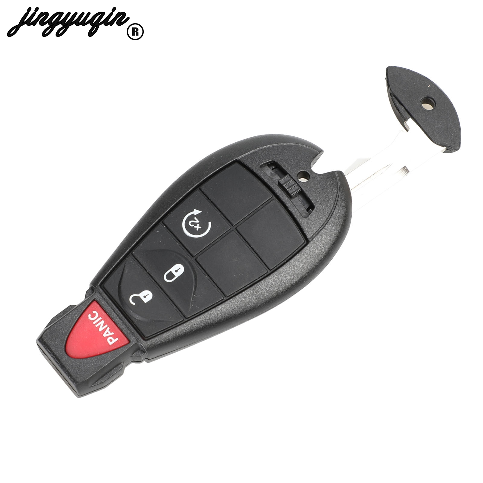 3+1 Button Remote Key Case Shell Fob for DODGE CHRYSLER 300 Aspen With Keypad