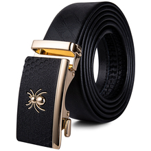 2019 New Designer Men Belt Brand Real Cowhide Genuine Leather Jeans Strap Gold Automatic Buckle Formal Black Belts