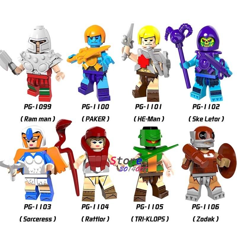 Single HE-Man Zodak Rattlor Ram Man PAKER Ske Letor TRI-KLOPS Building Blocks Models Bricks Toys For Children