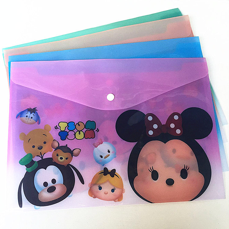 Disney Mickey Minnie Cartoon File Bag Mickey Mouse Cute Stationery Office School Supplies Student File Folder A4