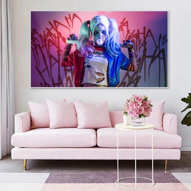 Sexy Harley Quinn film affiches et impressions Suicide-escouade-Anti héros toile peinture photo murale pour salon chambre décor