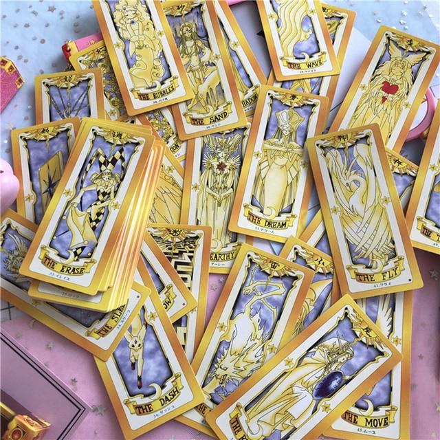 1 set Anime Cardcaptor Sakura Clow Card cosplay prop KINOMOTO SAKURA Card captor Sakura Cards Tarot 2