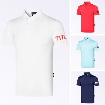 2020 golf clothing men #8217 s spring and summer short-sleeved T-shirt quick-drying breathable golf clothing tanie i dobre opinie Skręcić w dół kołnierz Krótki Oddychające Pasuje prawda na wymiar weź swój normalny rozmiar