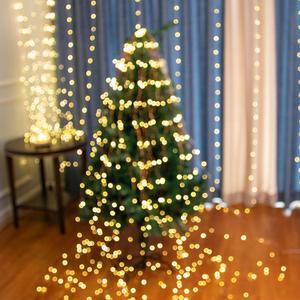 Image 5 - 8 מצב מפל פיות אורות 15/20/30 גדילים חבורה מחרוזת אורות לחבר Firefly זר לחתונה צמחים עץ המפלגה דקור