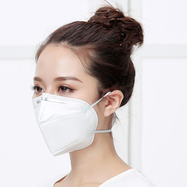 100pcs Mask mouth male and female protective masks dust-proof Mouth Mask Anti-fog Breathable 6 Layers Face Masks 95% Filtration 4