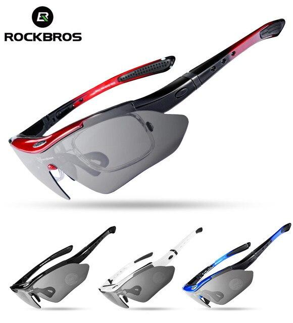 Rockbros ciclismo óculos polarizados 5 lente da bicicleta de estrada ciclismo óculos ciclismo mtb mountain bike ciclismo óculos 1