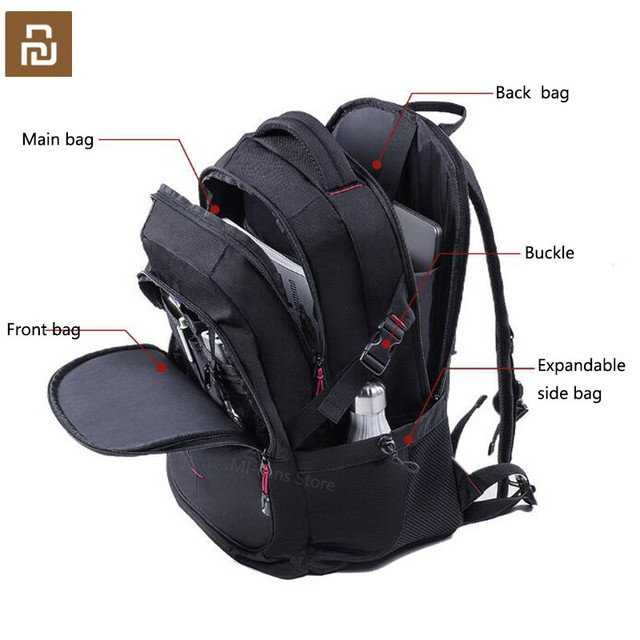 Youpin UREVO 25L large capacity mens backpack mens 15inch computer bag waterproof travel bag multi function backpack bag