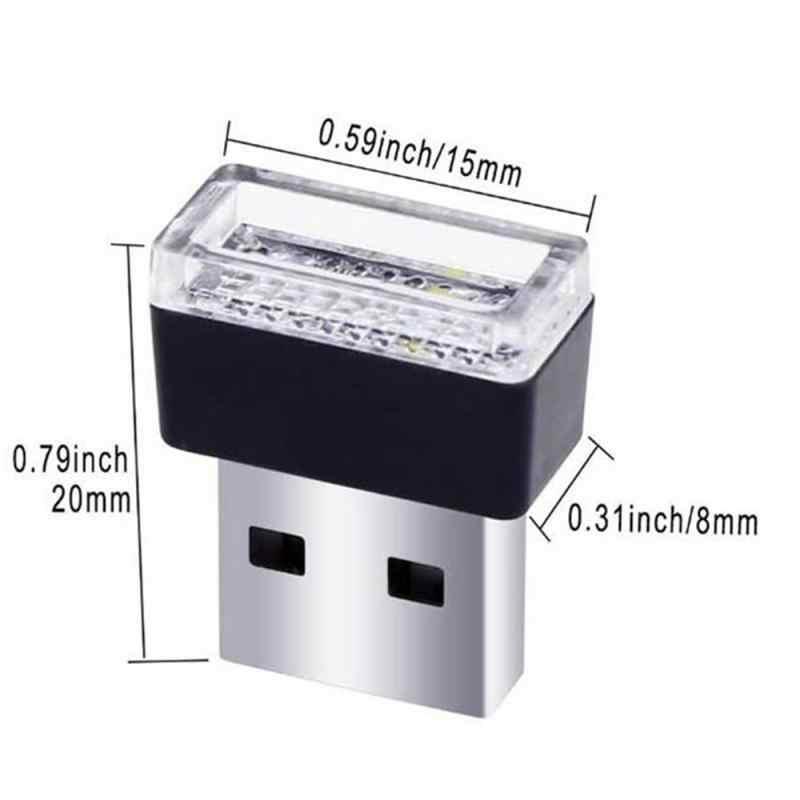 Mini phare LED pour voiture lumière Auto intérieur Usb modélisation USB atmosphère lumière Plug And Play voiture lumières Auto produit voiture accessoires