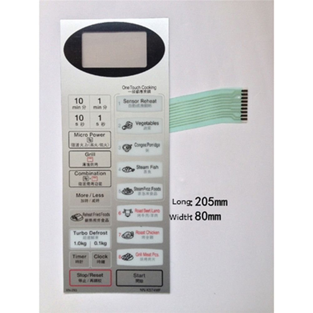 Microwave Oven Panel Touch Switch Membrane Switch Control Panel Touch Button For NN-K574MF Microwave Oven Repair Parts