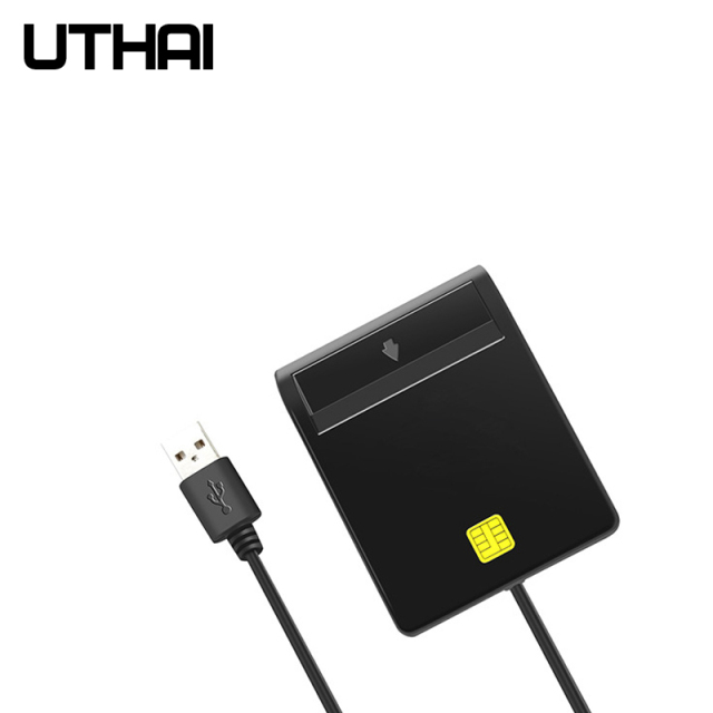 UTHAI X02 USB SIM Smart Card Reader For Bank Card IC/ID EMV SD TF MMC Cardreaders USB-CCID ISO 7816 for Windows 7 8 10 Linux OS 4