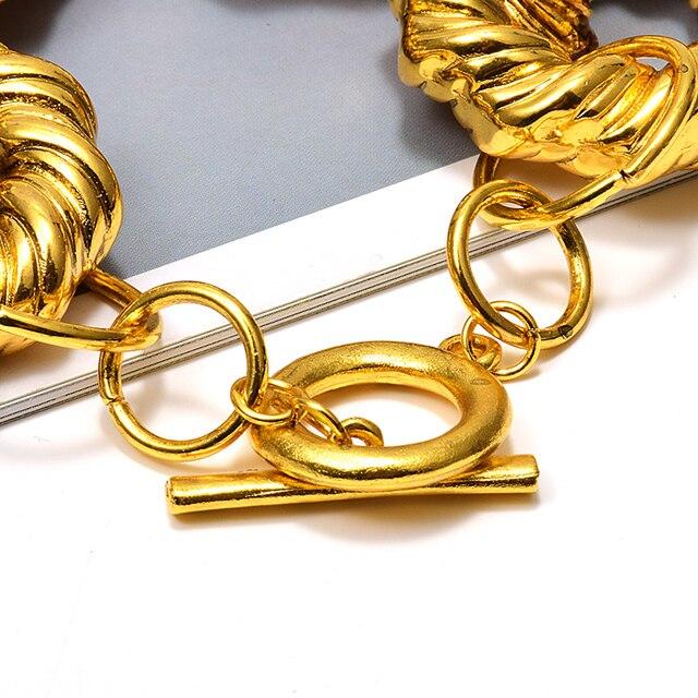 New Gold Metal Hoops Delicate Bracelet 5