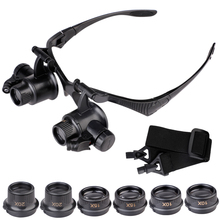 10X 15X 25X Hands Free Magnifier Loupe Lens LED Glasses Head-Mounted Repair Loupe Wholesale and Retail цена и фото
