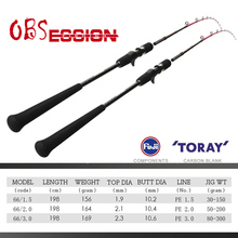 Slow Jigging Fishing-Rod Fuji-Guide Pole Sea OBSESSION Saltwater Long Casting Rings Japan