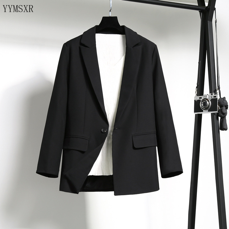 Women's High Quality Black Blazer Interview clothing 2020 Spring and autumn casual ladies jacket coat Elegant lady's small suit
