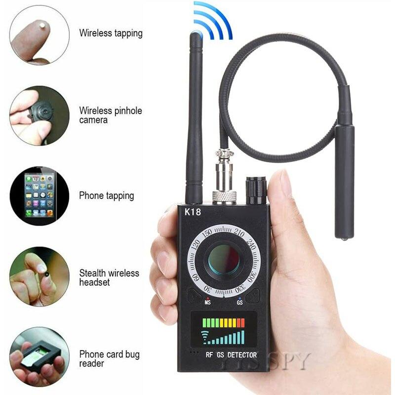 K18 Anti Spy RF Signal Scanner Hidden Camera Detector Anti Candid Camara Magnetic GPS Tracker Wireless Mini Audio GSM Bug Finder|Mini Camcorders|   - AliExpress