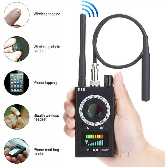 K18 Anti Spy Rf Signaal Scanner Verborgen Camera Detector Anti Candid Camara Magnetische Gps Tracker Draadloze Mini Audio Gsm Bug finder