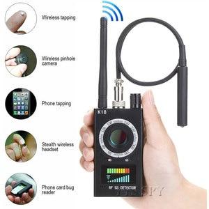 Image 1 - K18 scanner de sinal rf sem fio, detector de sinal escondido, câmera anti aderente, gps magnético, mini áudio gsm localizador