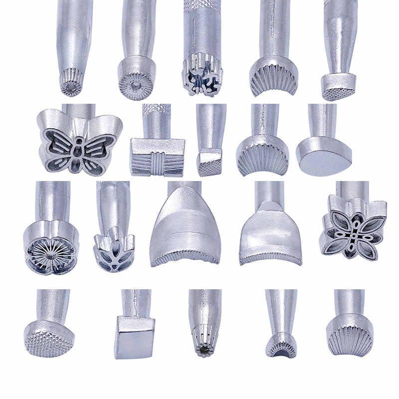 Leder Druck Werkzeug Sattel, Der Werkzeuge Carving Leder Handwerk Briefmarken Handwerk Stanzen Solide Metall Printinting Werkzeug
