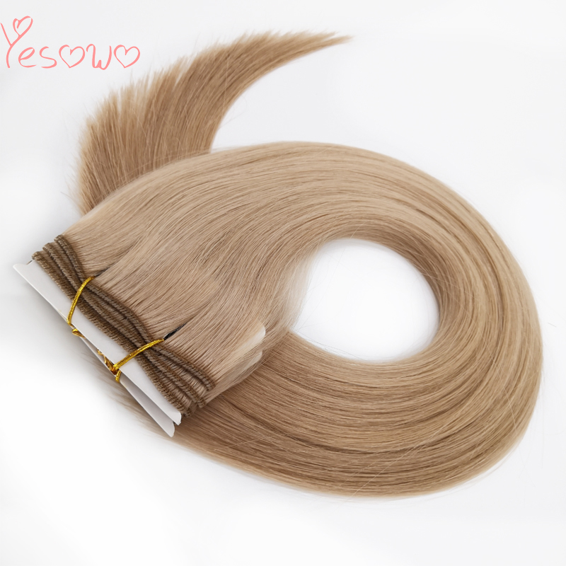 Yesowo Indian Natural Human Hair Weave 12-26Inch 16# Strawberry Blonde 100g High Quality Straight Remy Cheap Hair Bundles
