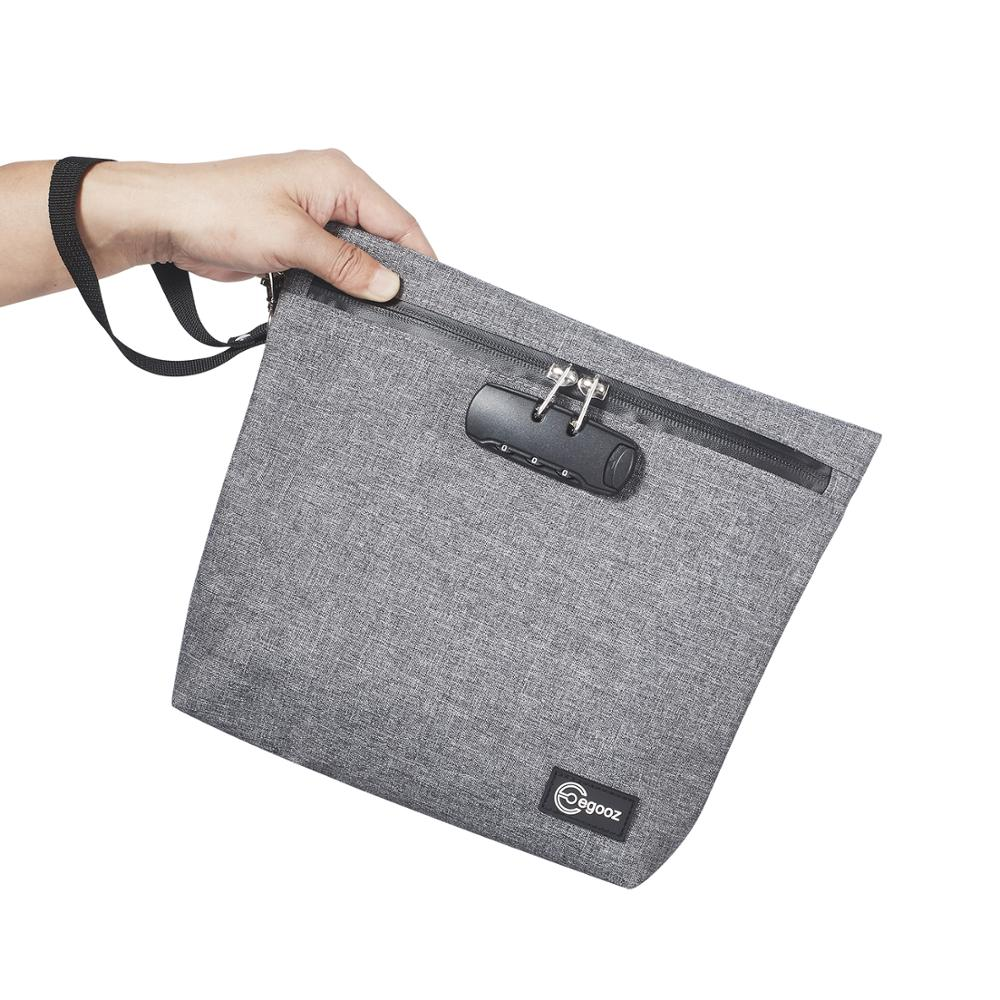 Smoking Smell Proof Bag Tobacco Pouch With Combination Lock For Herb Odor Proof Stash Container Case Storage Waterproof