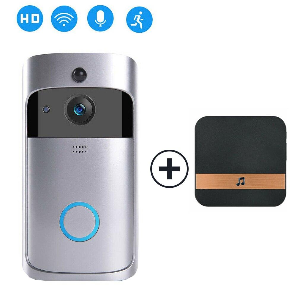 Умный wifi дверной Звонок камера IP видео домофон видео дверной звонок для квартиры ИК сигнализация беспроводная камера безопасности - Цвет: Plug