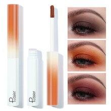 Pudaier-sombra de ojos líquida mate colorido, maquillaje de secado rápido, monocromático, púrpura, verde, azul, rosa, mate