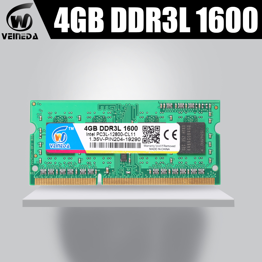 Veineda 2gb <font><b>4gb</b></font> 8gb <font><b>ddr3L</b></font> PC Memory RAM Memoria Module Computer laptop 1066 1333 1600MHZ 204pin for All AMD Intel image