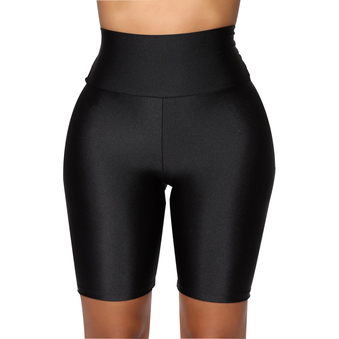 Womens Plain Sports Gym Cycling Skinny Fit High Waist Shorts Lady Summer Casual Solid Basic Stretchy Bodycon Short Pants